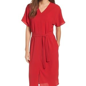 NWT Bobeau Stretch Crepe Dress Red sz. Sm✨